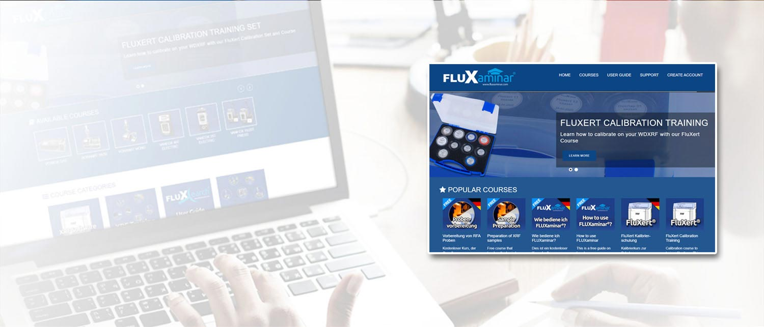 E-Learning for X-ray fluorescence analysis